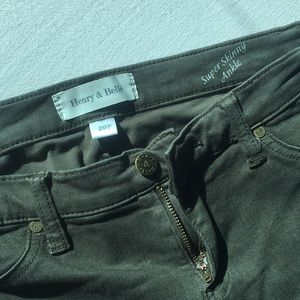 Henry and Belle ankle zipper skinny jeans petite